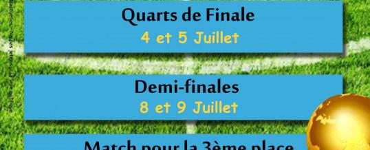 Coupe du Monde – Programmation de Juillet