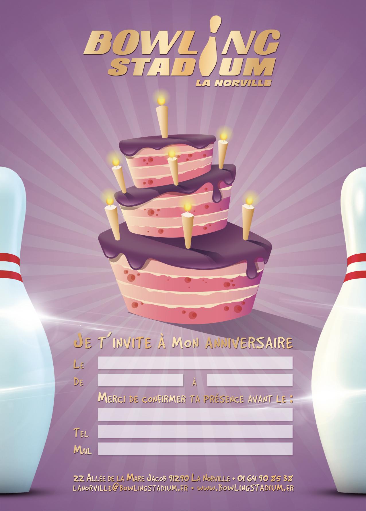 anniversaire bowling norville
