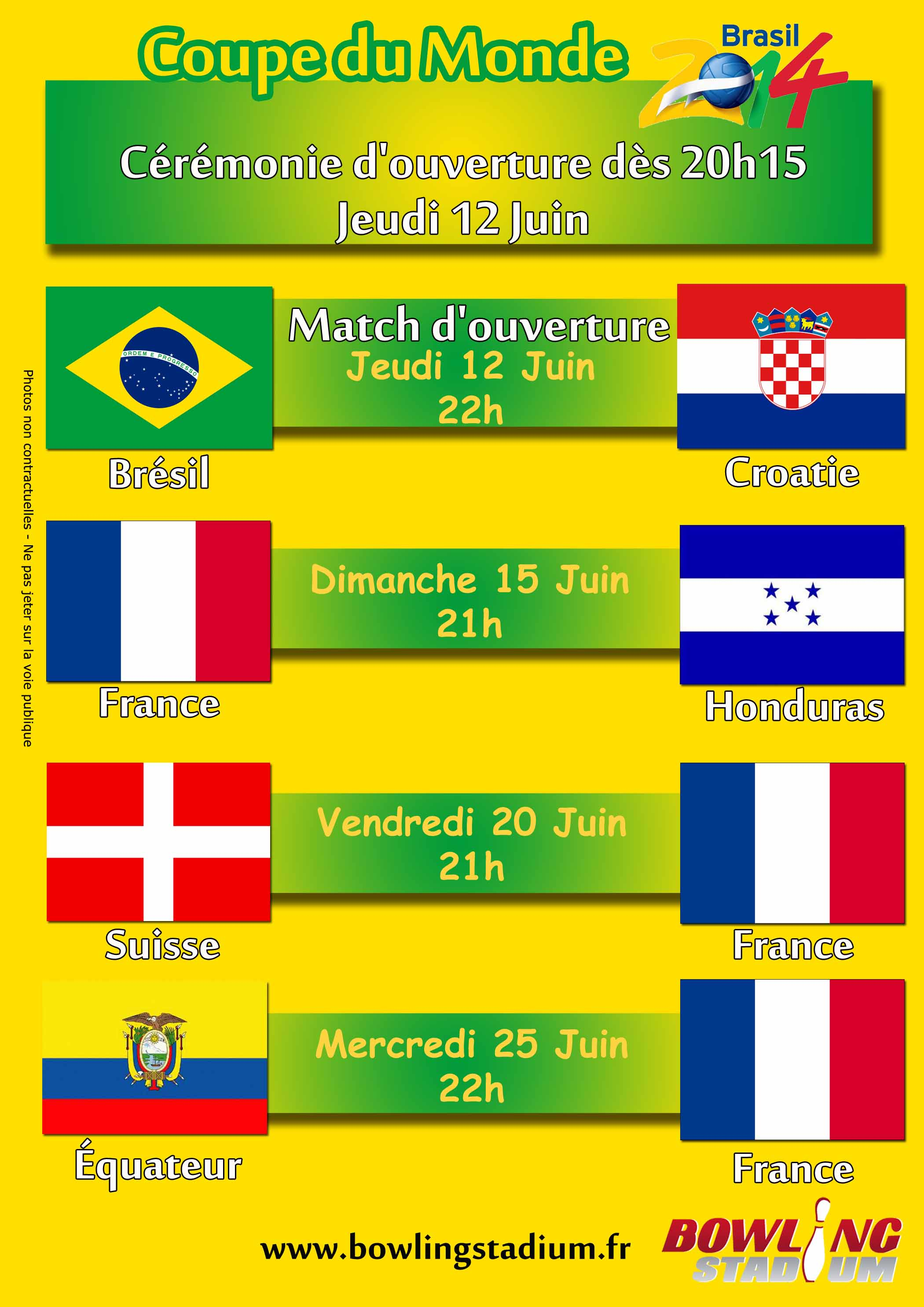 Coupe du monde 2014 diffusion des matchs bowling franconville - Diffusion match coupe de france ...