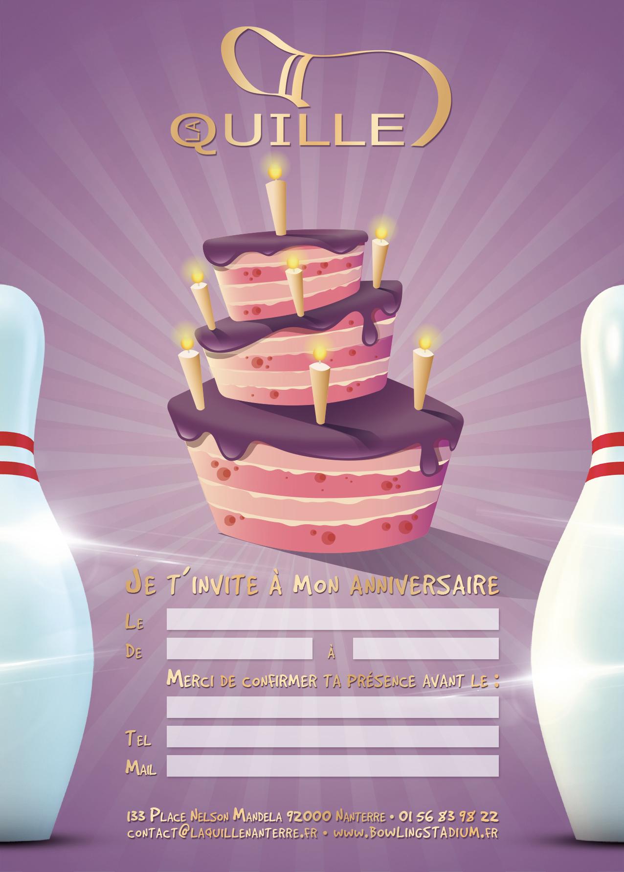 anniversaire bowling nanterre