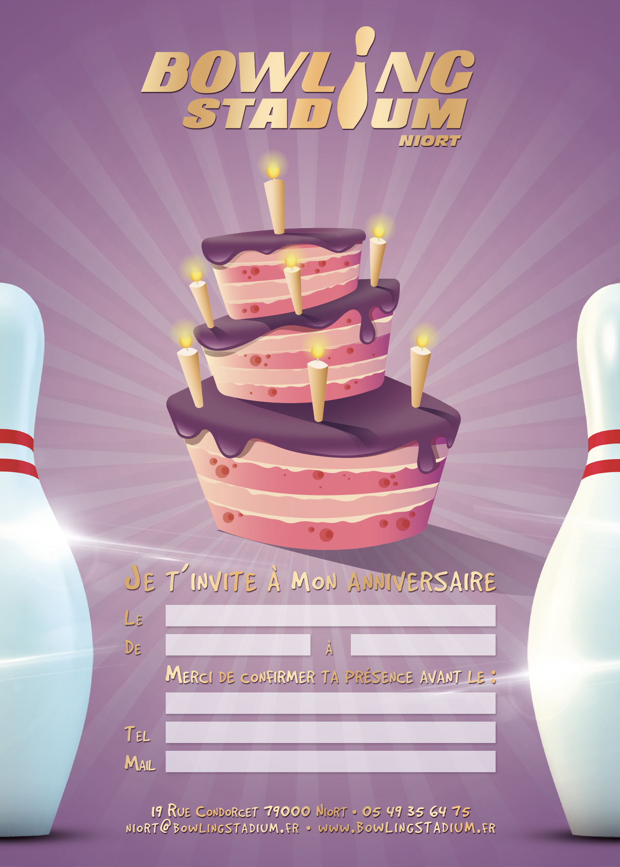 anniversaire bowling poitiers