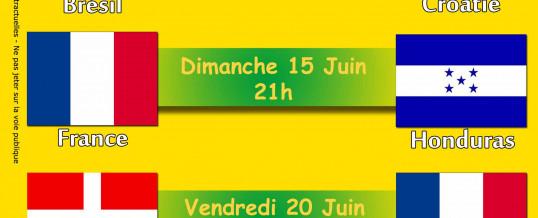 Coupe du Monde 2014 – Diffusion des matchs